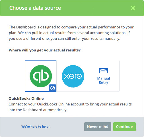 Connecting Data with LivePlan